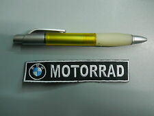 PATCH BMW MOTORRAD GS EMBROIDERED THERMOADHESIVE cm 12x 2,5