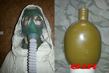 Soviet Russian Army Gas Mask GP-4 with filter bag Green NEW + FUNY GIFT FLASK