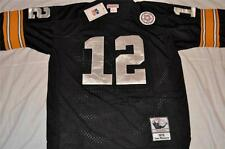 PITTSBURGH STEELERS #12 TERRY BRADSHAW THROWBACK JERSEY AUTHENTIC BLACK SEWN NWT