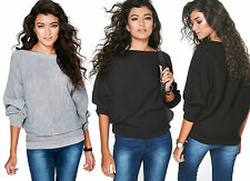 NEW CELEBRITY INSPIRED AMELIA OVERSIZE RIB KNIT BATWING TOP CARDIGAN JUMPER