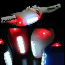 NEWLY wholesale high quality 4 colors bike bicycle 7 LED silicon warning light