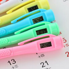 Colorful Ballpoint Pen with Digital Clock Electronic Clock Pen Kids Cute Gifts