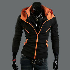 Men's Casual Fashion Slim Fit Sexy Top Designed Hoodies Jackets Coats M-XXL 3SD