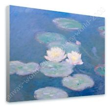 CANVAS +GIFT Water Lilies Claude Monet Paintings Paints Pictures Wall Art