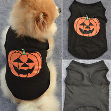 Pets Dogs Black Pumpkin Costumes Cotton Dog Shirts Puppy Clothes For Halloween