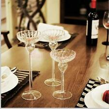 Retro Glass Candle Holder Candlestick Tealight Wedding Party Dinner Table Decor