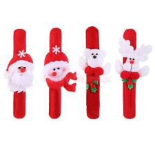 12Pcs Christmas Slap Wristband Xmas Party Holiday Fancy Dress Costume Favor Gift