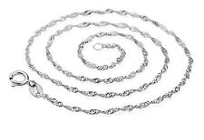 Wholesale Lots 5Pcs Silver/ Platinum Plated 2mm Water Wave Chain Necklace 18inch