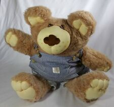 Vintage Xavier Roberts Furskins Teddy Bear Stuffed Animal In Overalls 21""