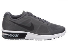 NEW MENS NIKE AIR MAX SEQUENT RUNNING SHOES TRAINERS DARK GREY / WHITE / BLACK