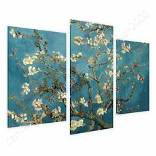 CANVAS +GIFT Almond Blossom Vincent Van Gogh 3 Panels Pictures Giclee Paints