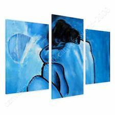 CANVAS +GIFT Blue Nude Pablo Picasso 3 Panels Paints Giclee Painting Pictures