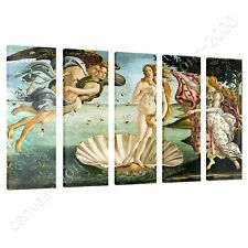 CANVAS +GIFT The Birth Of Venus Sandro Botticelli 5 Panels Giclee Prints