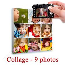 CANVAS +GIFT Collage 9 Images Personal Wall Art Poster Giclee Prints Painting