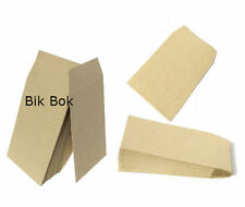 50 Small Brown Money/ Wages/ Dinner Money/ Coin/ Seed Envelopes 100X62 mm