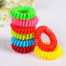 New 10Pcs Girls Lady Colorful Elastic Rubber Hair Band Rope Ponytail Holder hot