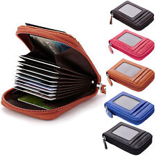 Mens/Womens Genuine Leather Wallet ID Credit Cards Holder Organizer Purse R