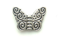 20/200 PCS Tibetan silver Craft Butterfly Making Jewelry Findings Spacers Beads