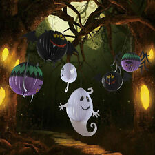 Paper Ghost Bat Spider Hanging Lantern Light Lamp Halloween Party Decoration