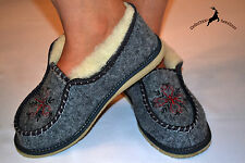 Womens Ladies Soft Gray Wool Shoes Slippers Sandals Boots Warm Handmade Poland