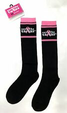 SAVE THE TATAS STRIPED Breast Cancer Awareness Socks NWT