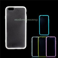 TPU+PC Colorful Candy Scrub Cover Ultra Thin Frame Case Slim For iPhone 6/6S