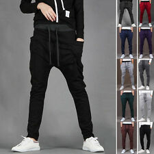 Mens Casual Training Pants Baggy Harem Sport Trousers Loose Dance Hip Hop Slacks