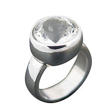 Schmuck-Michel Ladies Ring Sterling Silver 925 Rock crystal 6 ct Size 50-65