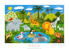 Jungle Fun Art Print by Harding, Sophie
