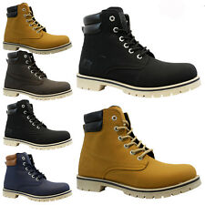 NEW MENS GENTS WINTER WORK WALKING HIKING DESERT ARMY MILITARY BOOTS SHOES SIZE
