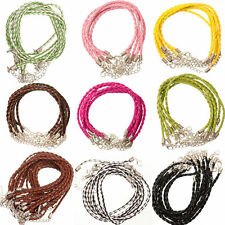 10Pcs Adjustable Braid Leather Chains Necklace Charms Finding String Cord 3mm