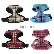Pet Dog Puppy Plaid Soft Mesh Harness Clothes Walking Apparel Outfit Size XS-XL