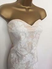 £85 LIPSY Nude Cream Lace MAXI Evening Ball DRESS BNWT UK 12 special offer