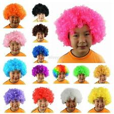New Curly Afro Clown Circus Fancy Dress Hair Wigs Halloween Disco Party Costume