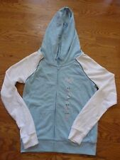 """VICTORIAS SECRET PINK BLING EMBROIDERED """"PINK"""" FULL ZIP HOODIE NWT"""