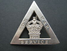 WWI 1916 On War Service badge by Gaunt & Son 249414
