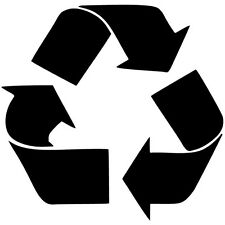 Recycle Logo Vinyl Sticker Decal JDM Earth Environment - Choose Size & Color