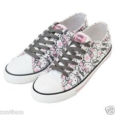 Hello Kitty Sanrio Official Sneakers Ladies Women Adult White Casual Shoes Low