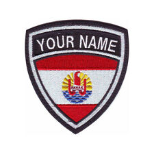 TAHITI CUSTOM CREST FLAG NAME EMBROIDERED PATCH