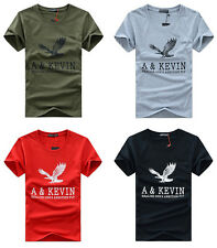 Hot Mens Casual Shirts Slim Fit Crew Neck T-shirt Short Sleeve Muscle Tee Shirts