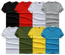 New Mens Casual Shirt Short Sleeve T-Shirt Muscle Cotton Crew Neck Basic Tee Top