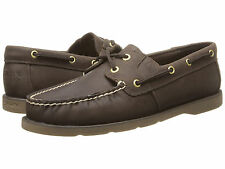 Sperry Top-Sider Women Leeward 2-Eye Leather Shoes STS90335 Dark Brown Size 9.5