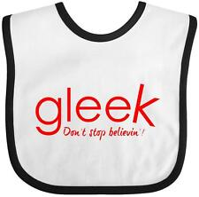 Inktastic Gleek Don't Stop Believin' Baby Bib glee musical gift newborn clothing