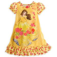 NWT Disney Store Disney Princess Belle Nightgown Nightshirt Sleepwear NEW 5 6
