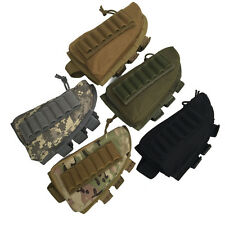 Tactical Hunting Rifle Shotgun Buttstock Cheek Rest Ammo Shell Mag Pouch Holder