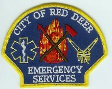 RED DEER ALBERTA CANADA EMERGENCY SERVICES PATCH