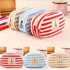 Navy Style Travel Cosmetic Bag Makeup Case Pouch Toiletry Zipper Pen Case Newest