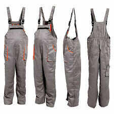 Bib and Brace Mens Work Trousers Bib Pants Multi Pocket with Knee Pads Pockets