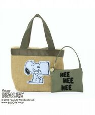 PEANUTS x cache cache SNOOPY Tote Bag Handbag Purse Pouch from Japan T4668