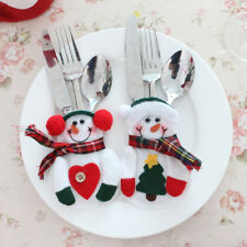 8Pcs Snowman Silverware Holder Bags For Home Table New Year Christmas Decoration